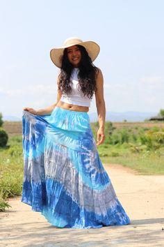 Boho Skirt / Maxi Skirt / Maxi Boho Skirt /Modest Skirt / Beach Skirt /Full Length skirt / Tie Dye Skirt/ Long Skirt Modest Skirts, Boho Skirts, Beach Skirt, Beach Dresses, Boho Dress, Dress Skirt, Aladdin Pants, Drop Crotch Pants, Hippie Pants