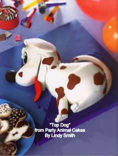 Top dog carved cake by Lindy Smith
