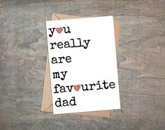 Dad Birthday Card, Thanks dad card, Card For dad, Father of the bride card, birthday card for dad, dad birthday, funny, Favourite Dad