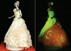 Glow in the dark wedding dress. Tho, in black light all things white will glow.