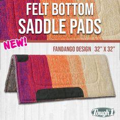 "NEW TACK!! Showman 32/""x32/"" TEAL Saddle Pad w// Felt Bottom /& Suede Wear Leathers"