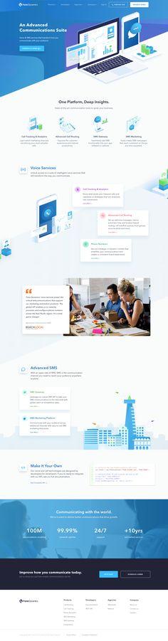 Fone Dynamics landing page design inspiration - Lapa Ninja Design Sites, Homepage Design, Web Design Trends, Web Design Company, Design Web, Graphic Design, Website Layout, Web Layout, Website Themes
