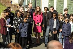 On their final stop of the day, the Duke and Duchess of Cambridge visited an XLP community bus and the XLP mobile recording studio on the Hazel Grove Estate, Sydenham