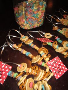 our kids snack necklaces - fun and yummy