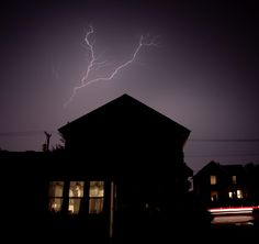 Lightning Over House by hardpan photo, via Flickr