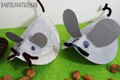 Kleine Mäuse für den Herbst basteln