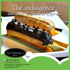 Chocolate & caramel eclaires from the catering co. Kitchen