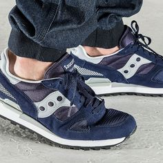 Saucony — the perfect combination of throwback style, clean lines, and great colors.