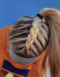 tutorial videos diy lovely hairstyle hairdo braid gorgeous stunning perfect hair… - Makeup İdeas For Wedding Athletic Hairstyles, Softball Hairstyles, Running Hairstyles, Workout Hairstyles, Cute Braided Hairstyles, Cute Simple Hairstyles, Cute Sporty Hairstyles, Cute School Hairstyles, Hairdos