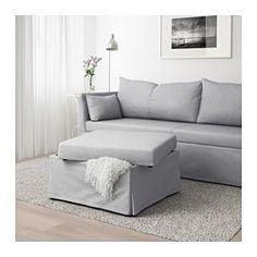 SANDBACKEN Corner sofa-bed - Frillestad light grey - IKEA