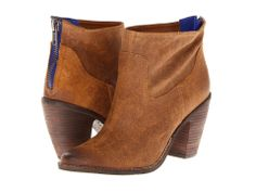 The blue zipper backing gives this classic booties a little extra oomph!