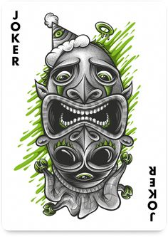 Joker by Mike Friedrich - http://playingarts.com/cards/mike-friedrich/