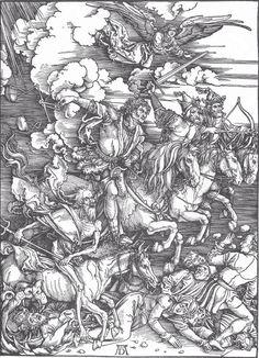 The Apocalypse, the Four Horsemen | Albrecht Dürer | 1497-1498 | Staatliche Kunsthalle Karlsruhe