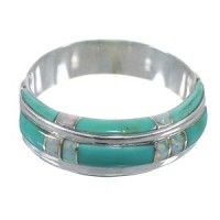 Authentic Sterling Silver Opal And Turquoise Southwest Ring Size 8 AX87005