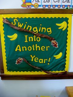 Swinging into another year! beginning of the year bulletin board for next year!