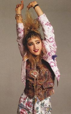 The 6 Top Fashion Trends 2013 presented by Madonna Madonna 80s Fashion, Lady Madonna, 90s Fashion, Fashion Trends, 1980s Madonna, Madonna 80s Outfit, Floral Fashion, Look 80s, 80s Trends