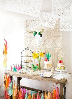 Un décoration mexicaine pour fêter un premier anniversaire