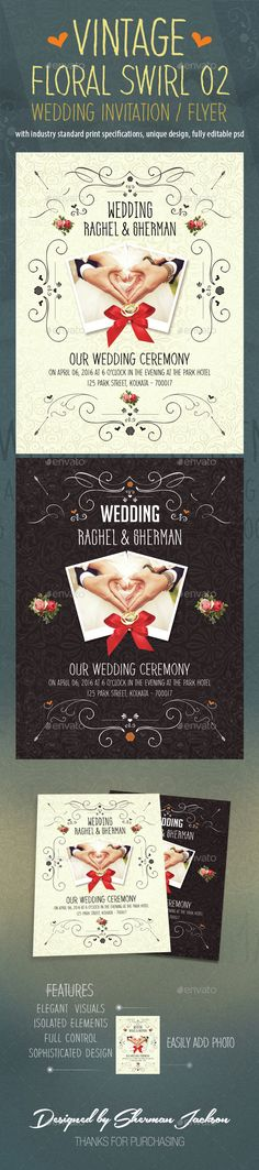 Creative Engagement Wedding Card Wedding card, Invitation card - vintage invitation template