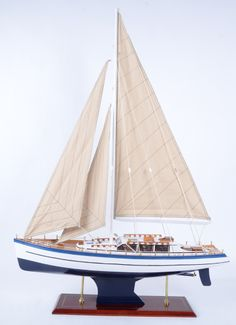 America wood sailboat model, hand made, 80cm long