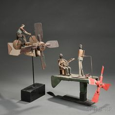 Two Figural Whirligigs...sold for$1,169