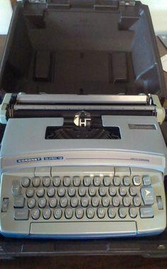 Vintage Typewriter SMITH-CORONA SUPER 12 CORONAMATIC CARTRIDGE W/CASE