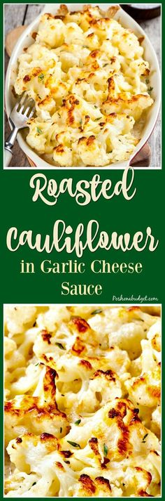 Food Holic: Roasted Cauliflower in Garlic Cheese Sauce Side Dish Recipes, Vegetable Recipes, Low Carb Recipes, Diet Recipes, Vegetarian Recipes, Cooking Recipes, Healthy Recipes, Pasta Recipes, Vegetarian
