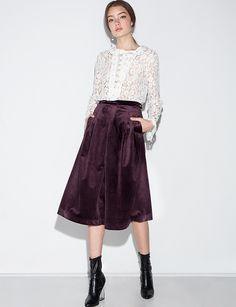 Genevieve Velvet Culottes by Line & Dot #fashion #pixiemarket