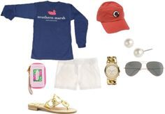 """A day with friends"" by southern-prep ❤ liked on Polyvore"