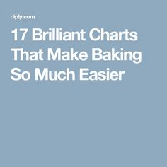 17 Brilliant Charts That Make Baking So Much Easier