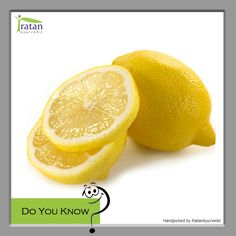 """#DoYouKnow? Just one lemon has more than 100 percent of your daily intake of vitamin C, which may help you to increase """"good"""" HDL cholesterol levels and strengthen bones."""