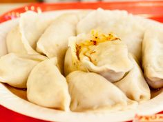 dumplings at the New World Mall's Food Court