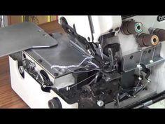 Como enhebrar una Overlock industrial brother, maquina de coser industrial remalladora. - YouTube