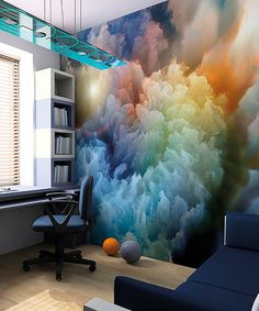 Brewster Home Fashions Moody Clouds Wall Mural