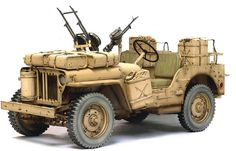 1/6 Scale - 1/4 Ton SAS Desert 4x4 Truck Jeep Model Kit.