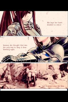 Gray Fullbuster talking about Erza Scarlet...