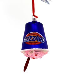Holiday Ornaments Dairy Queen Cheesecake Blizzard Glass Ornament