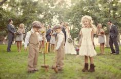 I am going to have the cutest ring boy and flower girl.
