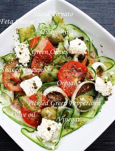 Greek Salad Recipe (Cucumber, Olives, Tomato, and Feta Cheese Salad) ala Dentist Chef | DENTIST CHEF