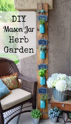 DIY Mason Jar Herb Garden | Home Remedies