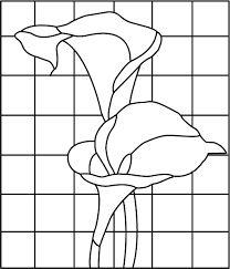 Resultado de imagen para moldes de paisajes para vitrales