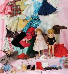 American Dolls 1950-1965: 327 Two Jill Dolls and Grand Assortment of Original Costumes by Vogue