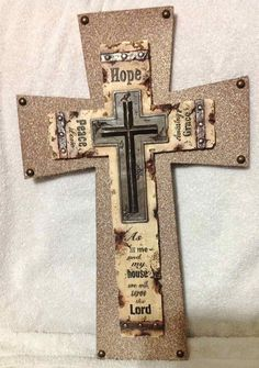 Cross Wall Decor by TheCrossedCupcake on Etsy, $30.00