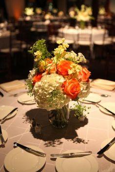 Baltimore 1840s Ballroom Wedding Flowers 275x412 Bold Travel Inspired Baltimore Wedding Reception: Meghan + Phil