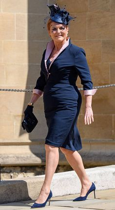 Sarah Ferguson, Duchess of Yorke from Meghan Markle and Prince Harry's Royal Wedding Guests Prince Harry's aunt was one of the last to arrive before the ceremony began.