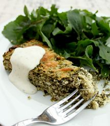 Spinach and Ricotta Bake for a delicious light lunch. Best Places To Eat, Meatloaf, Restaurant Bar, Ricotta, Spinach, Main Dishes, Pork, Veggies, Vegetarian