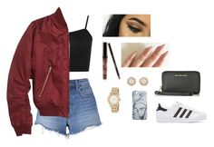 """""""Instagram baddie outfit"""" by itchetl ❤ liked on Polyvore featuring T By Alexander Wang, adidas Originals, WearAll, Topshop, Kylie Cosmetics, DKNY, Kate Spade and Michael Kors"""