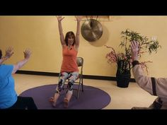 Teaching Old Dogs New Tricks! Full Seated Chair Yoga Sun Salutations - YouTube