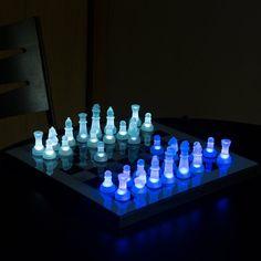 Fancy - LED Chess Set by LumiSource. $75