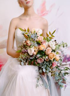 Photography : Rebecca Yale Photography | Floral Design : Tulipina Floral Design | Wedding Dress : Kelly Faetanini Read More on SMP: http://www.stylemepretty.com/2017/02/12/winter-to-spring-floral-editorial/