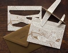 Airplane cutout invitation